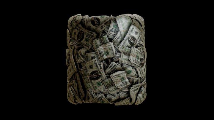 Money Stack Part2. Fully procedural 3D Model