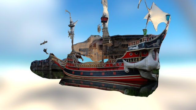Kristinsand Amusement Park -The Dark Lady 3D Model