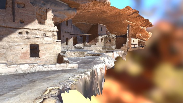 Mesa Verde - photogrammetry of 2080 pictures 3D Model