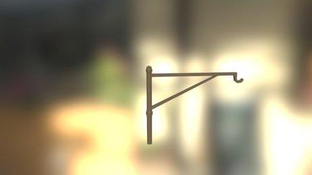 Fireplace Pole Hook 3D Model