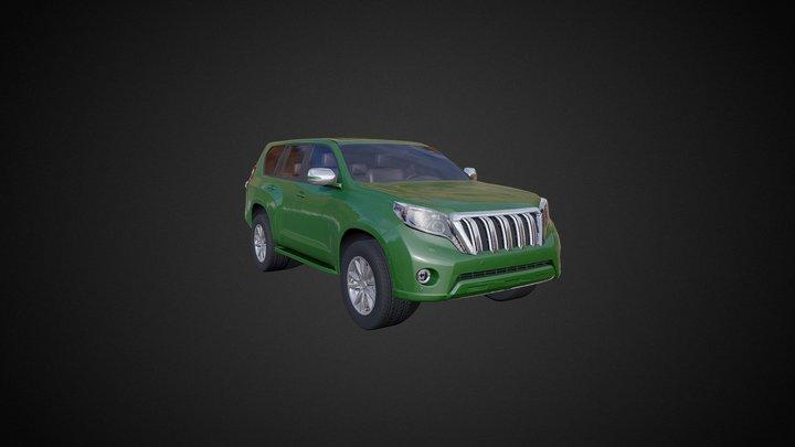 LOW POLY Off-Road 4x4 hatchback #2 3D Model