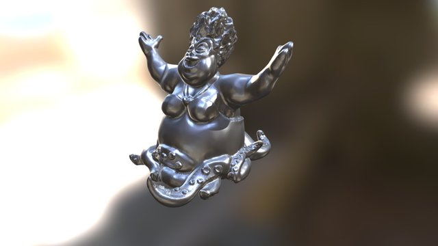 Ursula - Mini Steel Print 3D Model