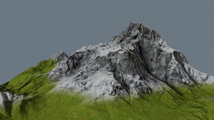 Mountain Low Poly 3D Model
