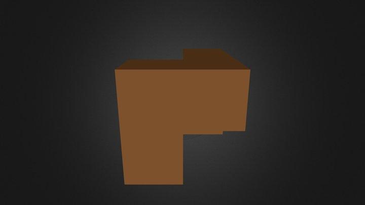 Brown Puzzle Cube Piece 3D Model