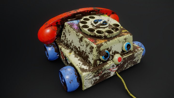 Toy Phone Worn (Fisher Chatter) 3D Model