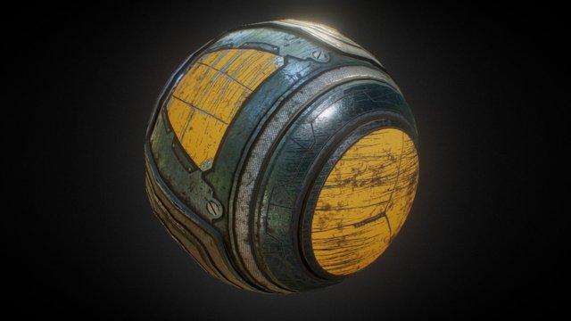 Spherical Capsule 3D Model