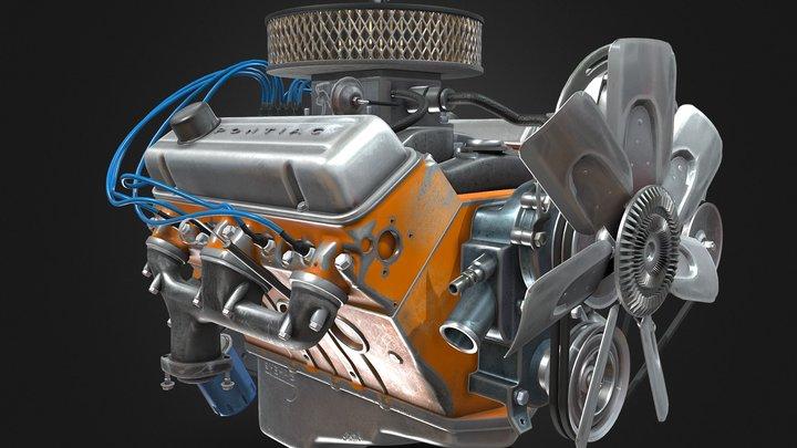 car engine (Pontiac ) 3D Model