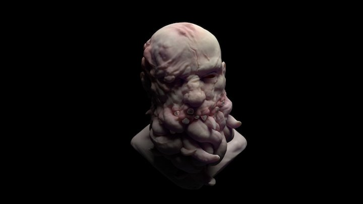 Decayed Man 3D Model