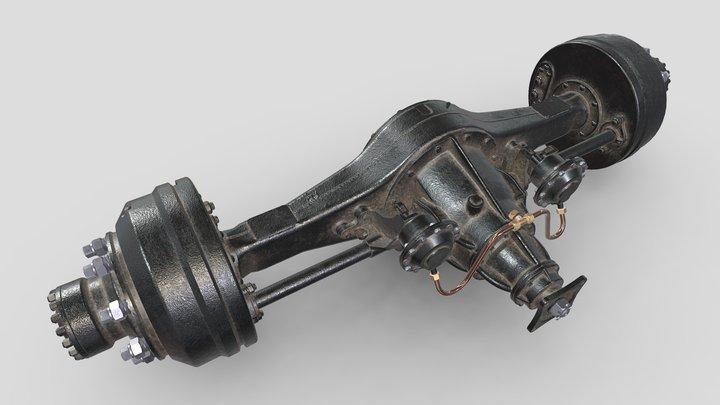 3D model of ZIL-164_Rear Axle. 3D Model