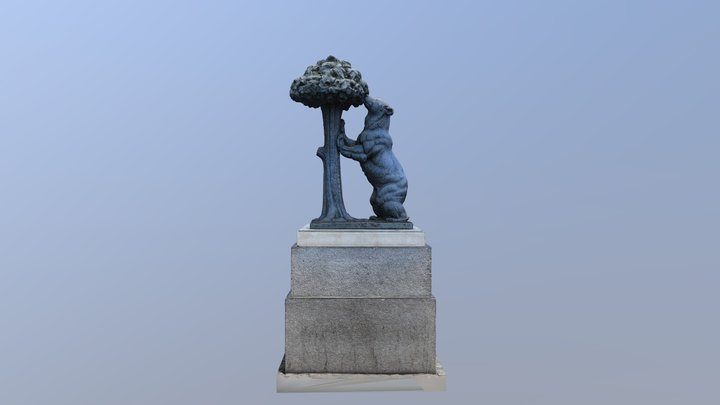 Escultura Oso y el madroño Plaza del Sol Madrid 3D Model