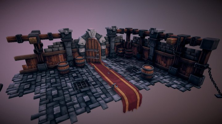 Stylized Dungeon (Tutorial by Tobias Koepp) 3D Model