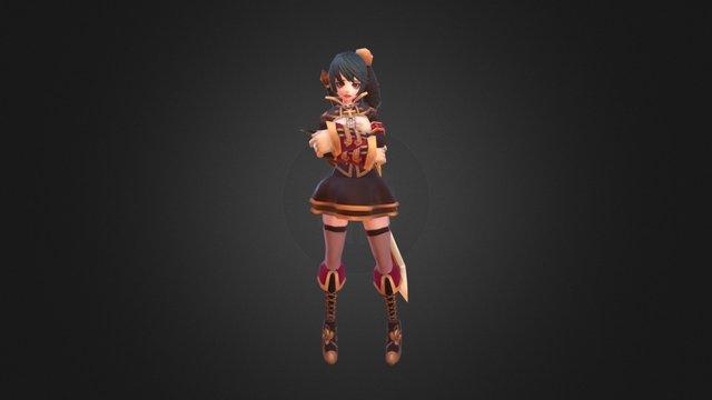 Blade Girl H02 3D Model