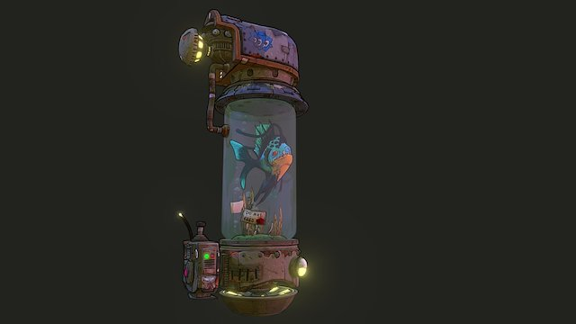 The Travelling Fishtank (Borderlands Inspired) 3D Model