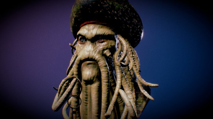 Davy Jones Bust 3D Model
