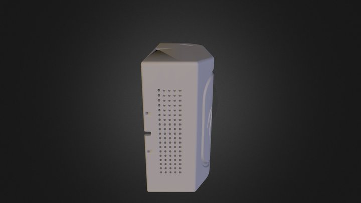 Front Case w/ holes on side + bottom 3D Model
