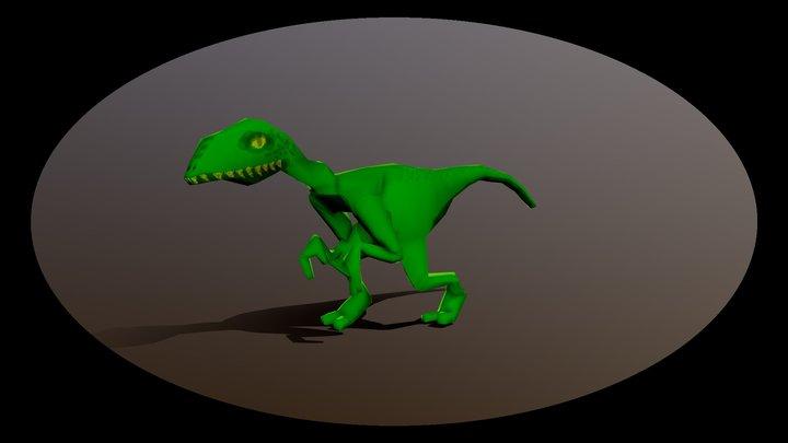 Raptor walk aniMaytion 3D Model