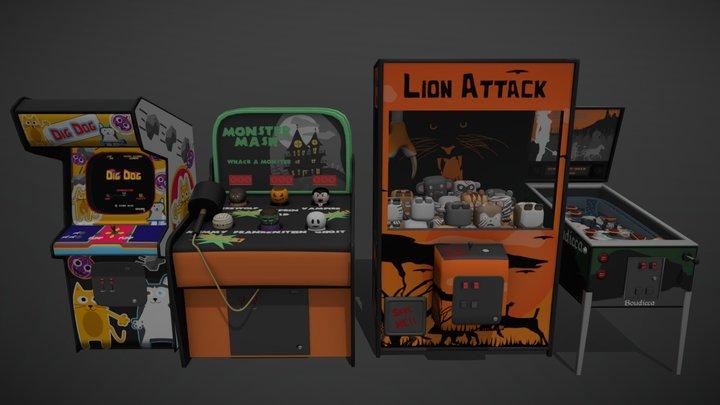 Arcade Games 3D Model