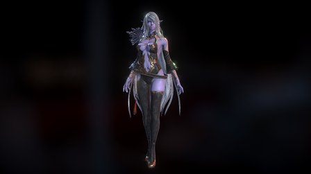 Darkelf Animation 3D Model
