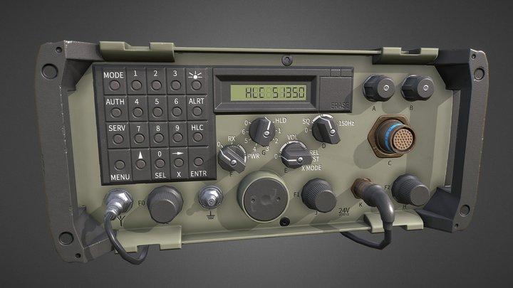 ER-315 Military Radio   Game Ready 3D Model