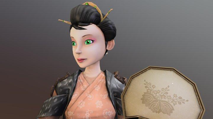 Mage Girl 3D Model