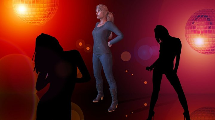 Helkena's BFF Showing Off Her Dance Moves! 3D Model