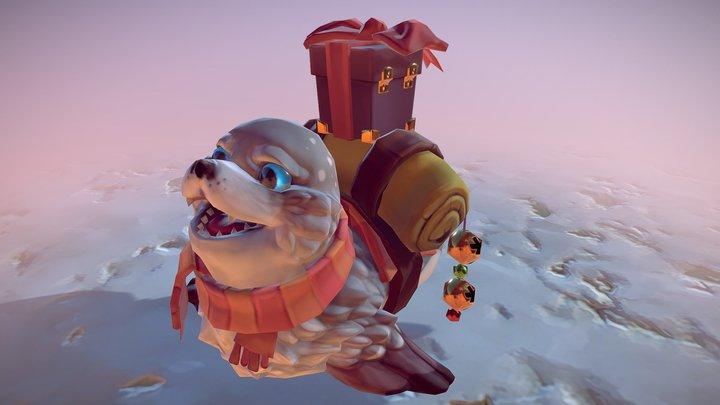 Serac the Seal (2017, older version) 3D Model