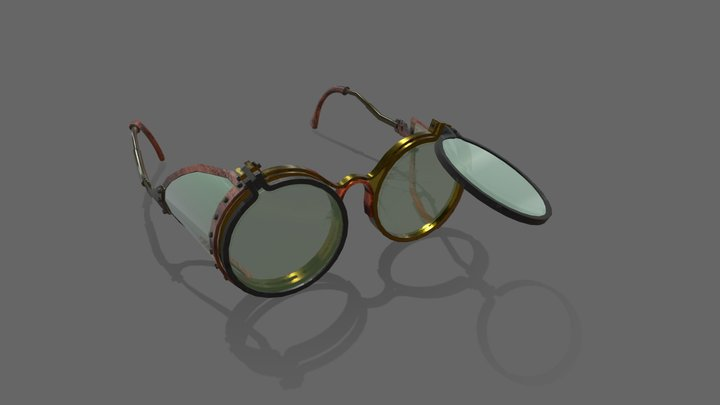 steampunk glasses 3D Model