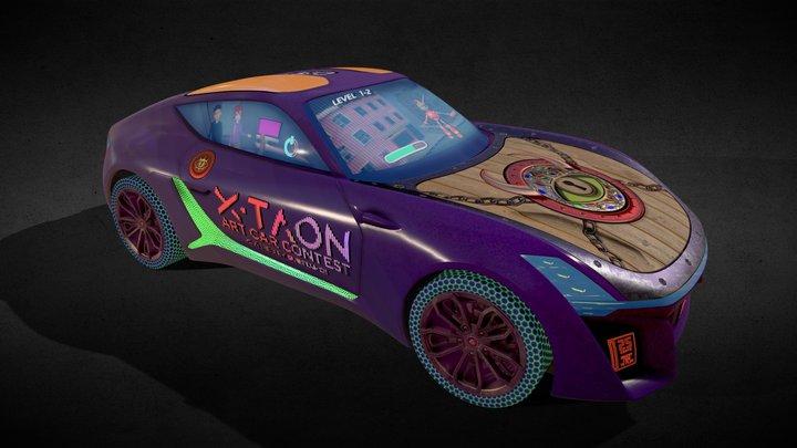 X-TAON Art Car Substance Painter Contest 3D Model