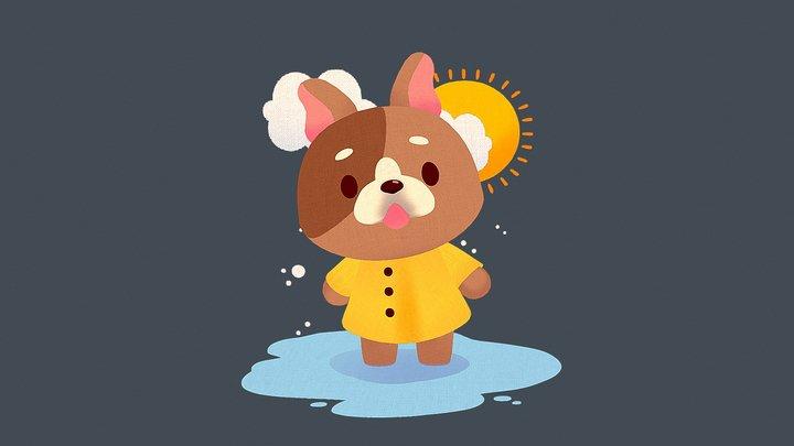 Rainy dog 3D Model