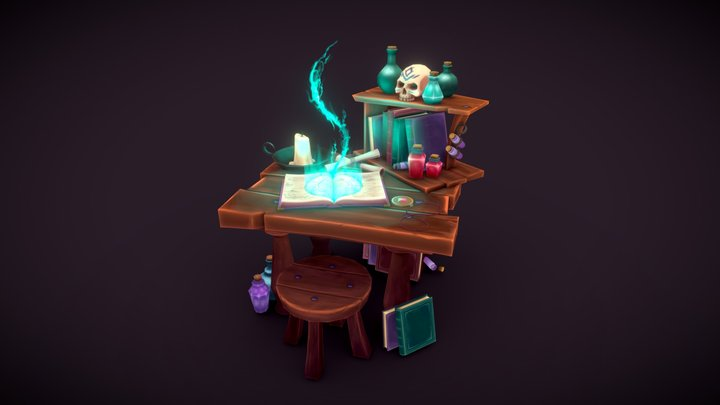 Spell Seer's Table 3D Model