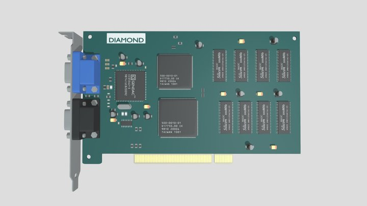 VideoCard 3Dfx Voodoo Graphics 3D Model