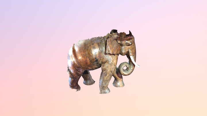 Elephant from salvage one 3D Model