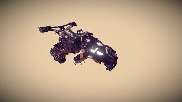 ship (district9 inspired) 3D Model