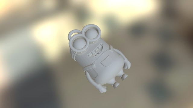 Minion Dave Keychain 3D Model