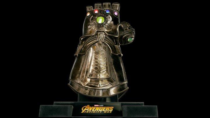Thanos Infinity Gauntlet - Avengers Infinity War 3D Model