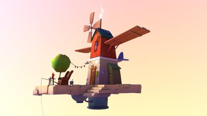 Flying House 3D Model