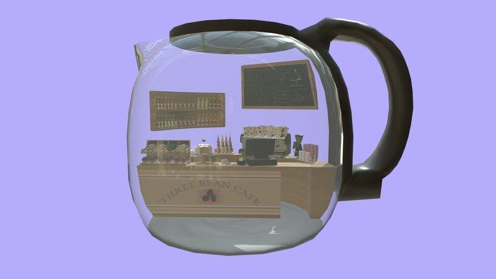 Coffee Pot Cafe 3D Model
