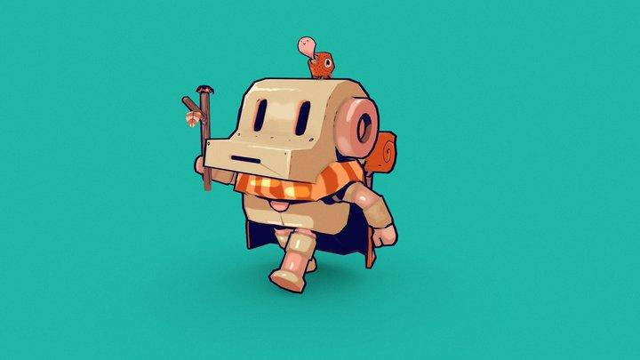 Pooom- cute robot 3D Model