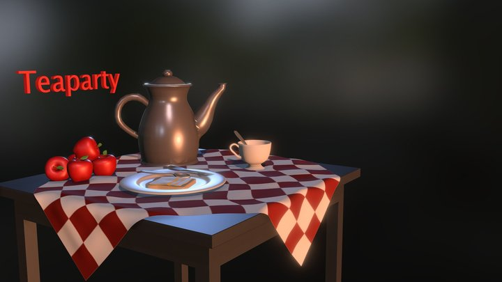 Teaparty (Full scene) 3D Model