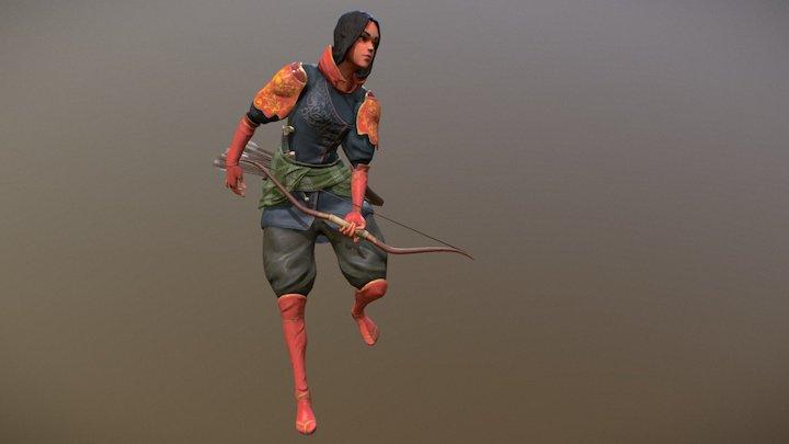 East Mountains Warrior 3D Model