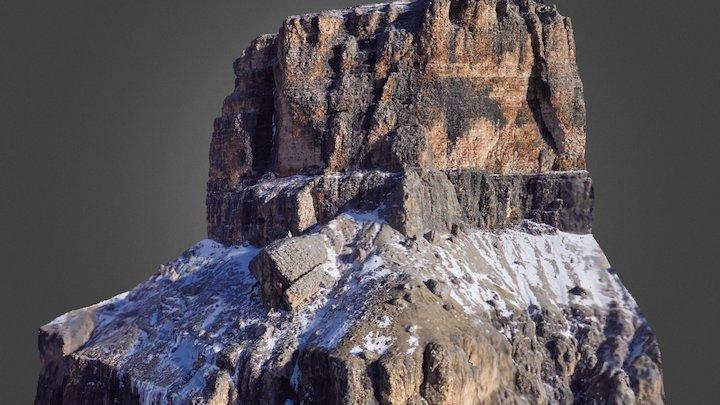 Sass Pordoi, parete nord-ovest 3D Model