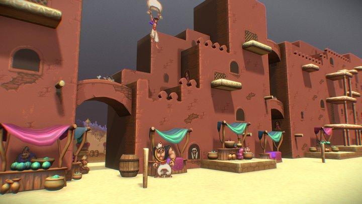 Agrabah Market for VR 3D Model