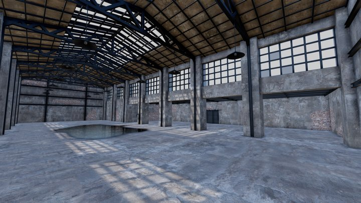 SHC Factory Hall Old 3D Model