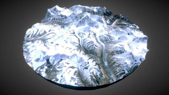 Mount Everest - Himalaya 3D Model