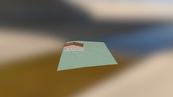 Дом2 квадрат 100х100 3D Model