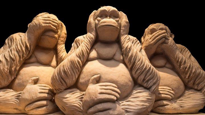 Monkeys figure 3d scan 3D Model