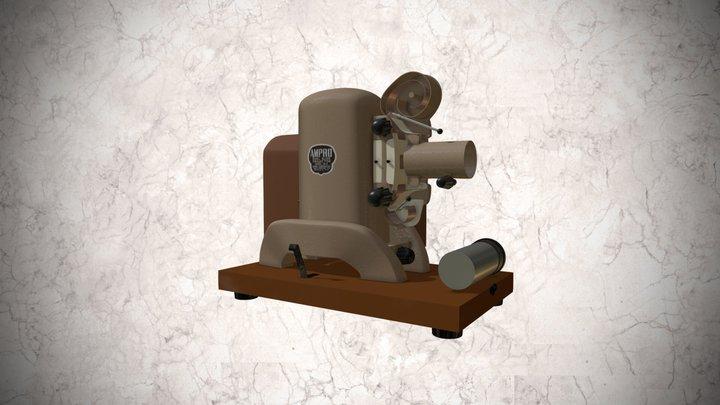Proyector Ampro de 35mm 3D Model