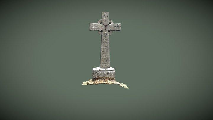 Kildavnet Graveyard, Cross Headstone 3D Model