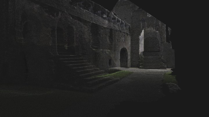 St Davids Bishops Palace staircase 3D Model