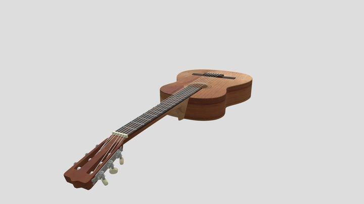 Spanish classical guitar 3D Model